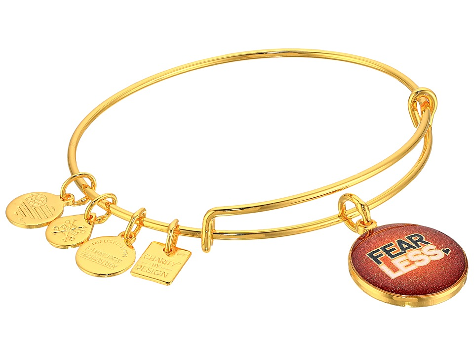 Alex and Ani - Charity By Design Fearless Bangle (Yellow Gold) Bracelet