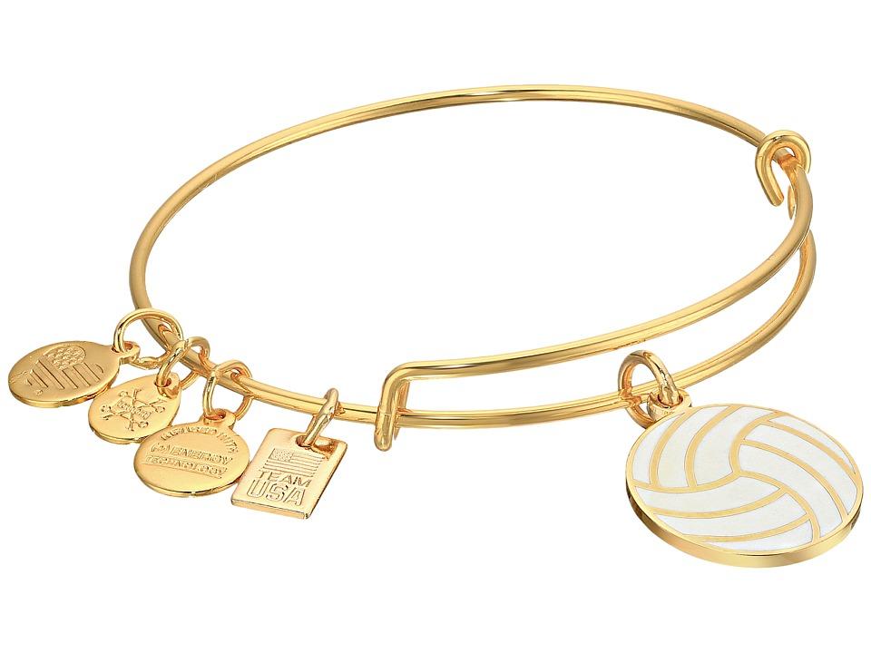 Alex and Ani - Team USA Volleyball Bangle (Yellow Gold) Bracelet