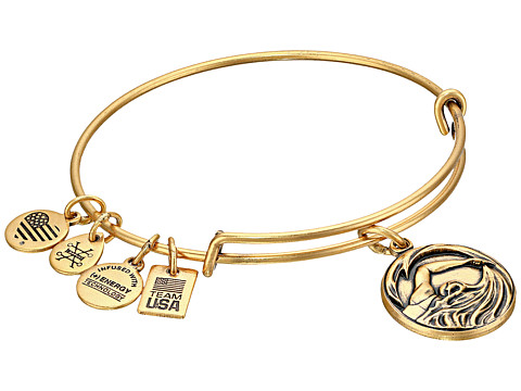 Alex and Ani Team USA Swimming Bangle - Gold
