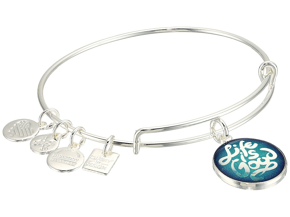 Alex and Ani - Charity Design Life is Good Bangle (Shiny Silver) Bracelet
