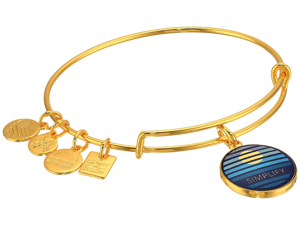 Alex and Ani - Charity By Design Simplify Bangle (Yellow Gold) Bracelet