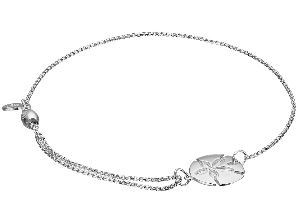 Alex and Ani Pull Chain Bracelet Sand Dollar Silver Bracelet