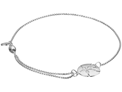 Alex and Ani Pull Chain Bracelet Sand Dollar - Silver
