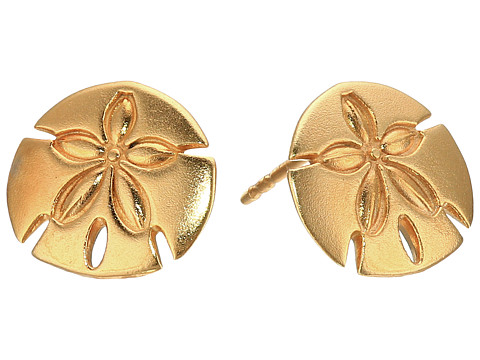 Alex and Ani Post Earrings Sand Dollar - Gold