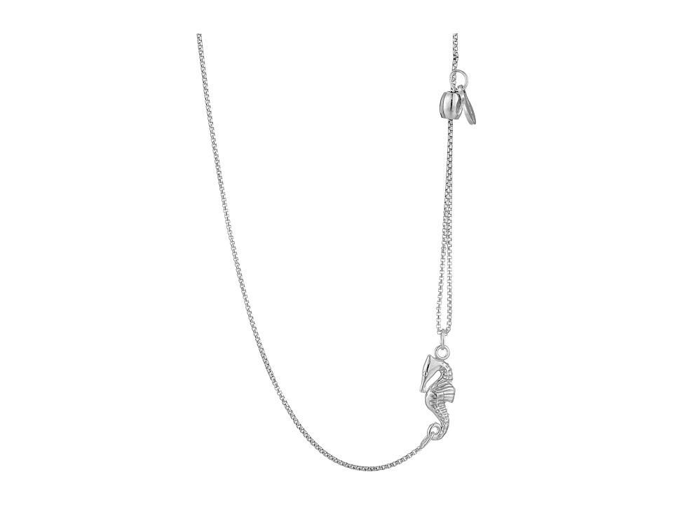 Alex and Ani Pull Chain Necklace Seahorse Silver Necklace