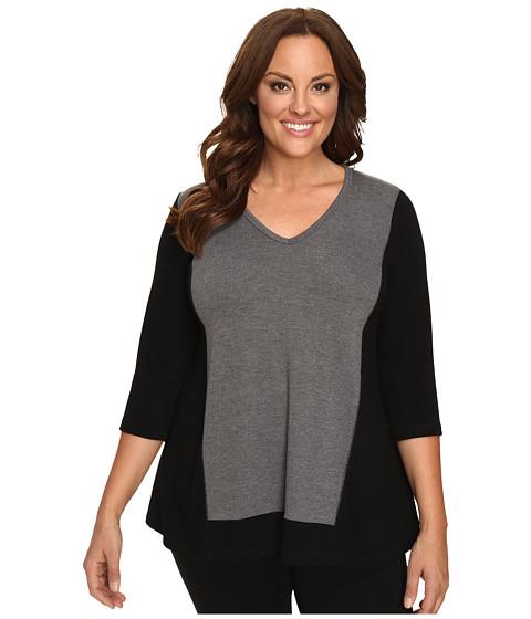 Karen Kane Plus Plus Size Color Block Sweater Knit Top