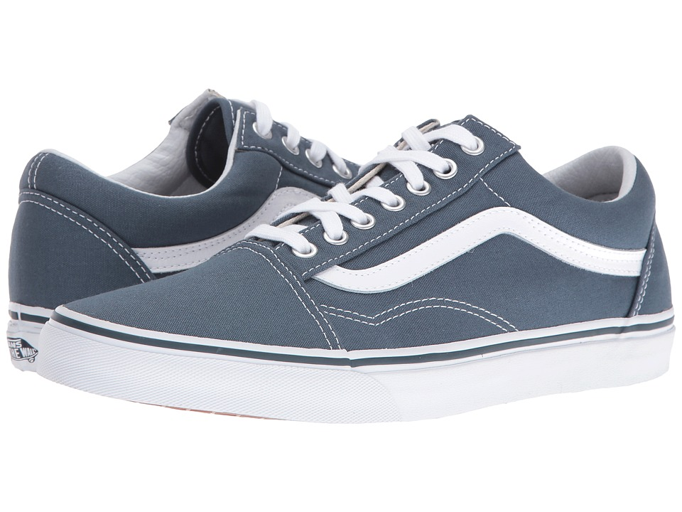 Vans Old Skool ((Canvas) Dark Slate/True White) Skate Shoes