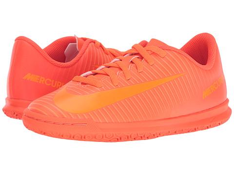 Nike Kids Mercurial Vortex III IC Soccer (Little Kid/Big Kid) - Total Orange/Bright Citrus/Hyper Crimson