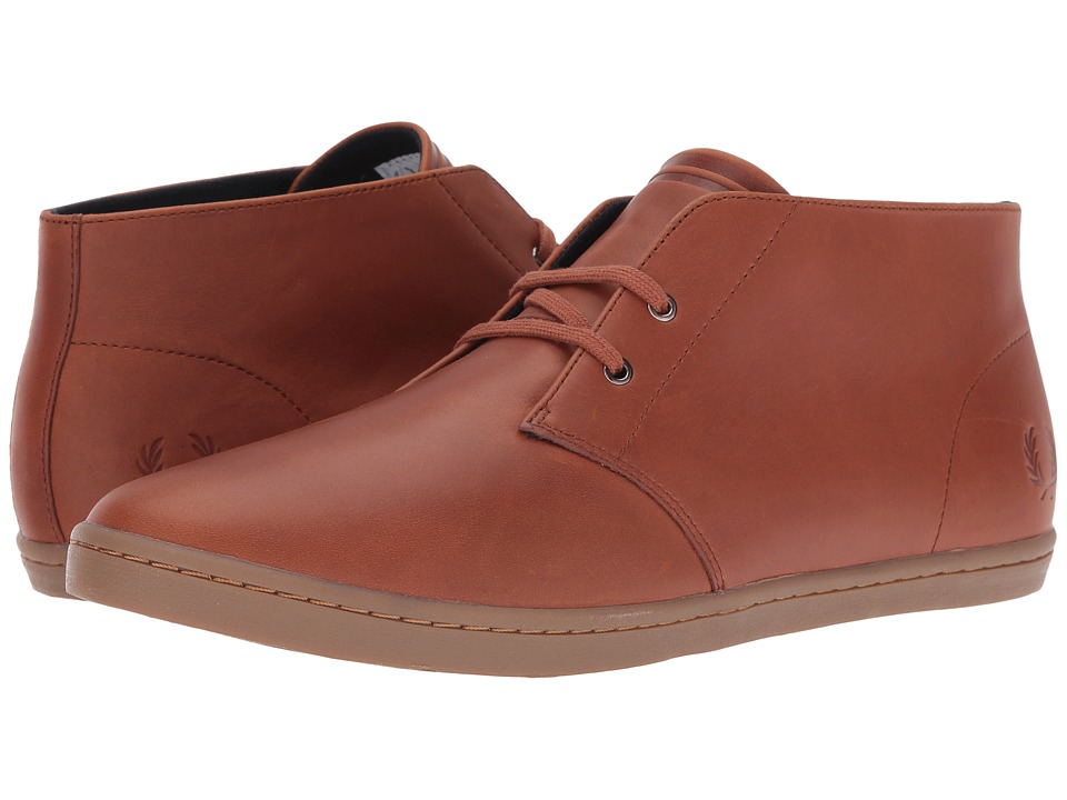 Fred Perry Byron Mid Leather (Tan) Men