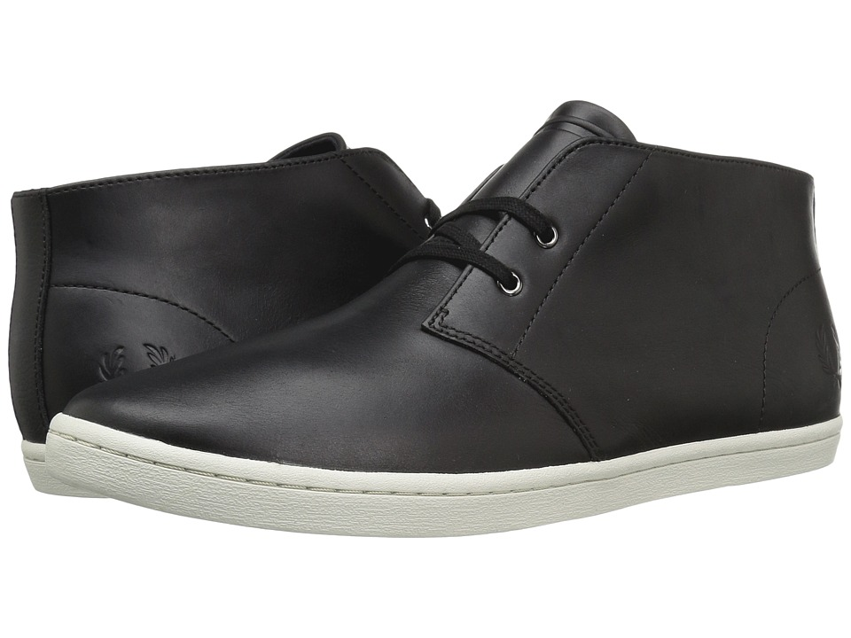 Fred Perry Byron Mid Leather (Black) Men