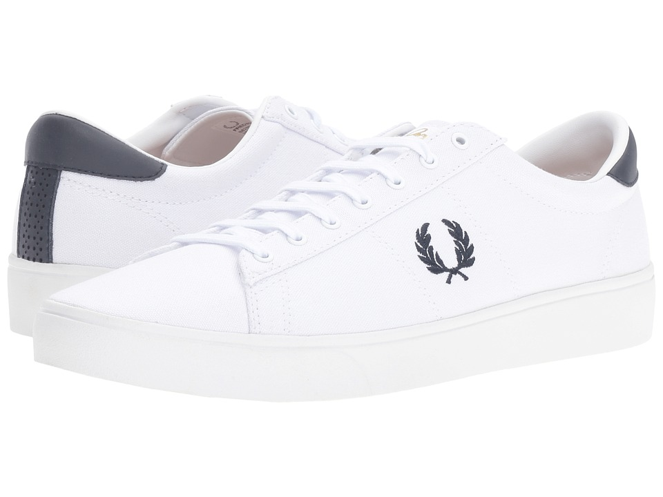 Fred Perry - Spencer Canvas (White/Navy) Men