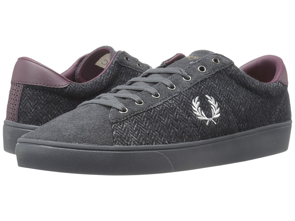 Fred Perry Spencer Tweed Suede (Charcoal/Dolphin) Men