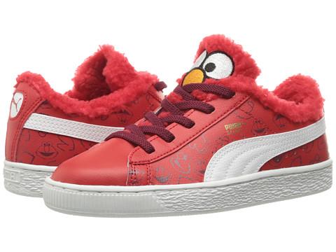 Puma Kids Basket Sesame Elmo AC (Little Kid/Big Kid) - High Risk Red/Puma White