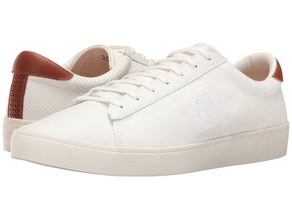 Fred Perry Spencer Herringbone Knit Leather (Porcelain/White) Men