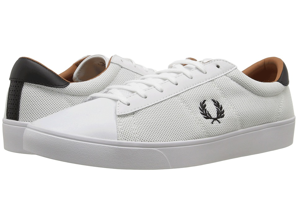 Fred Perry Spencer Mesh Leather (White/Black) Men