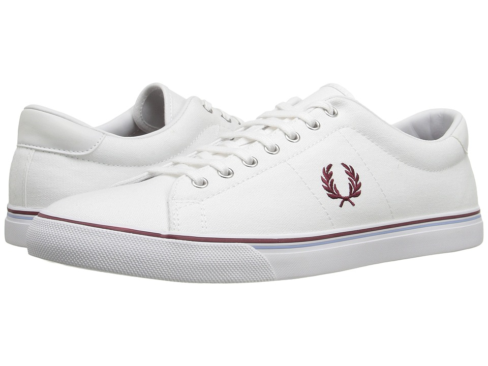 Fred Perry Underspin Canvas (White) Men