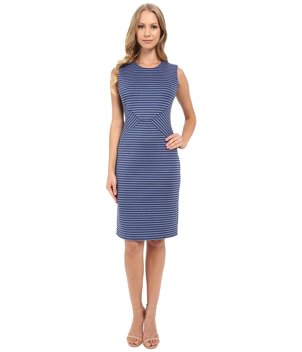 Calvin Klein Stripe Sheath Dress CD5M1R1W Atlantis Multi Womens Dress