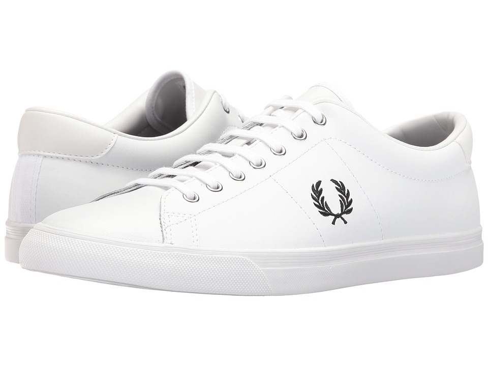 Fred Perry Underspin Leather (White/Black) Men