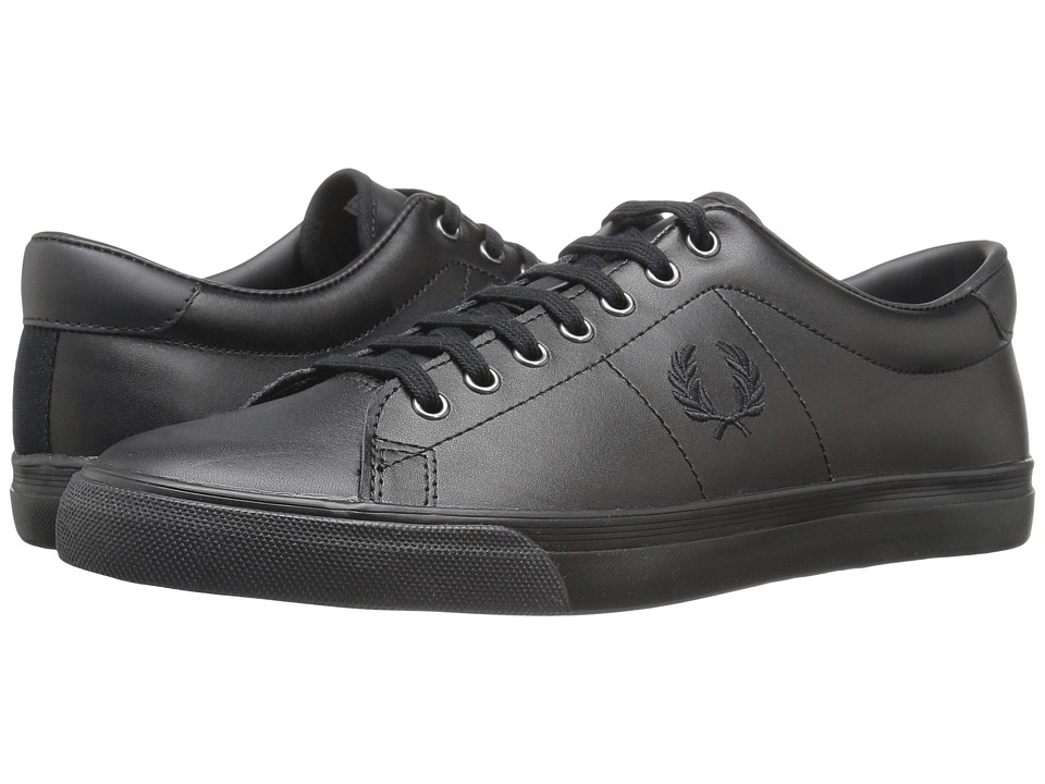Fred Perry Underspin Leather (Black/White) Men