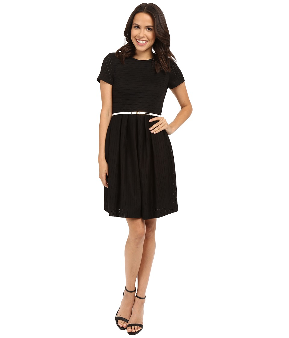Calvin Klein Fit and Flair Dress CD5E1768 Black Womens Dress