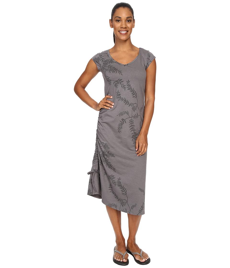 ToadampCo Muse Dress Smoke Foliage Print Womens Dress