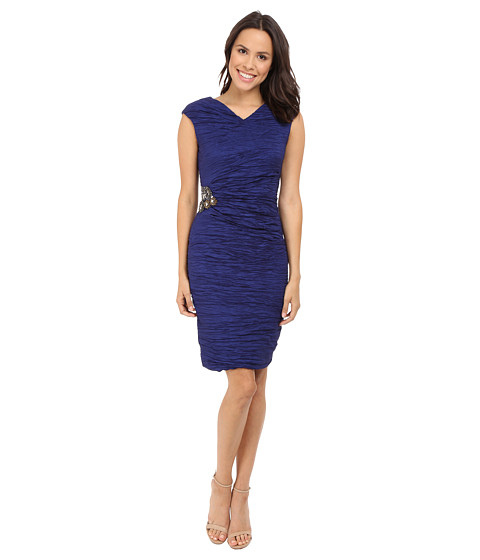 Calvin Klein Cap Sleeve Dress with Beading on Side CD6B2ZHU