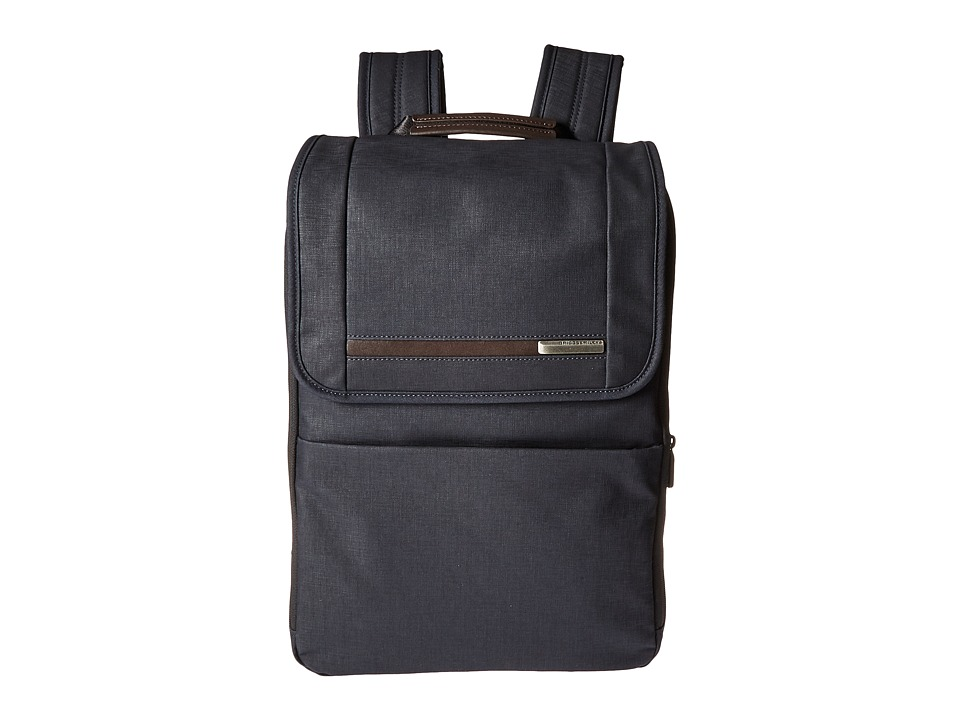 Briggs & Riley - Kinzie Street - Flapover Expandable Backpack (Navy Blue) Backpack Bags