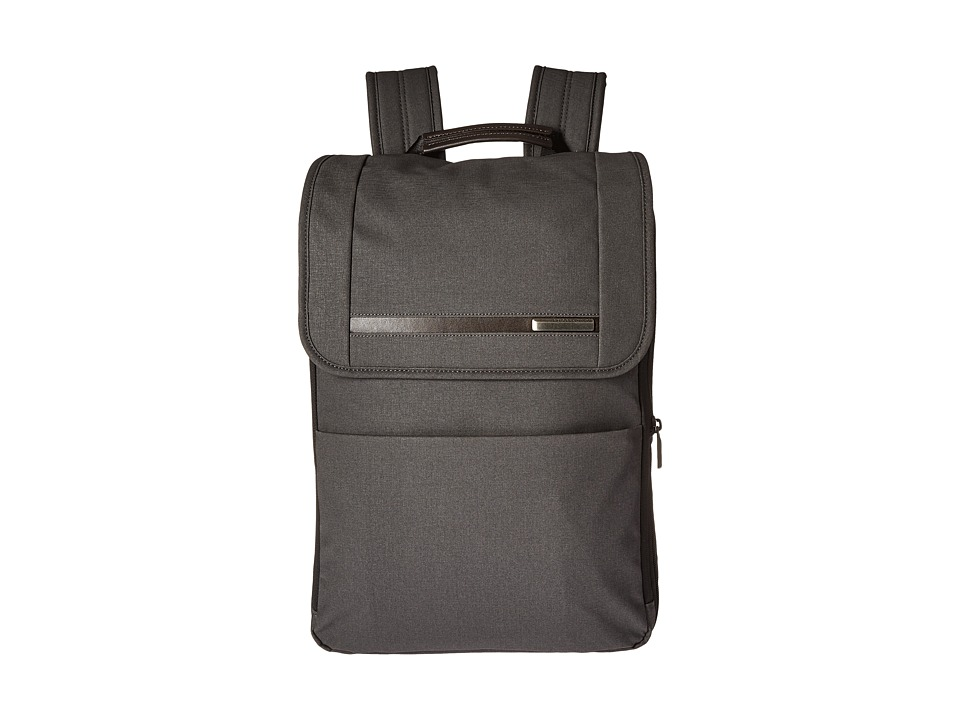 Briggs & Riley - Kinzie Street - Flapover Expandable Backpack (Grey) Backpack Bags