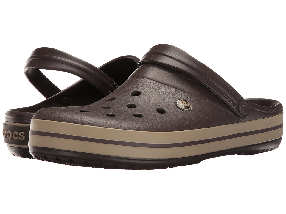 Crocs Crocband Clog (Espresso/Khaki) Clog Shoes