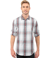 Calvin Klein - Long Sleeve Roll-Up Cotton Tencel® Woven Optic Plaid