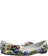 Dolce & Gabbana - Maolica Ceramic Print Brocade Skimmer