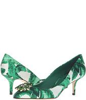 Dolce & Gabbana - Banana Leaf Print Satin Bellucci Pump
