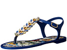 Dolce & Gabbana - Maiolica Ceramic Print Jelly Sandal (Blue Maiolica)