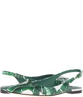 Dolce & Gabbana - Banana Leaf Print Patent Flat Slingback