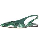 Dolce & Gabbana - Banana Leaf Print Patent Flat Slingback (Foglie Banano Fondo Bianco)