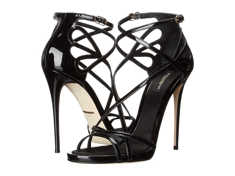 Dolce  +  Gabbana - Patent Sandal (Black) Women's Dress Sandals