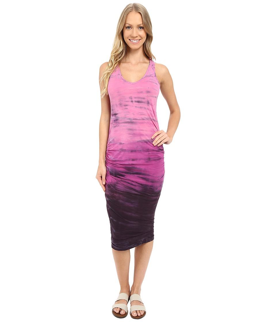Hard Tail Double Trouble V-Neck Dress (Rainbow Horizon 24) Women