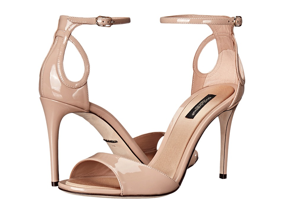 Dolce & Gabbana Patent Sandal (Beige 1) Women
