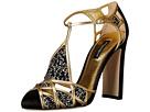 Dolce & Gabbana - Embellished Caged Toe Sandal (Black/Gold)