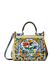 Dolce & Gabbana - Maiolica Ceramic Print Sicily Bag