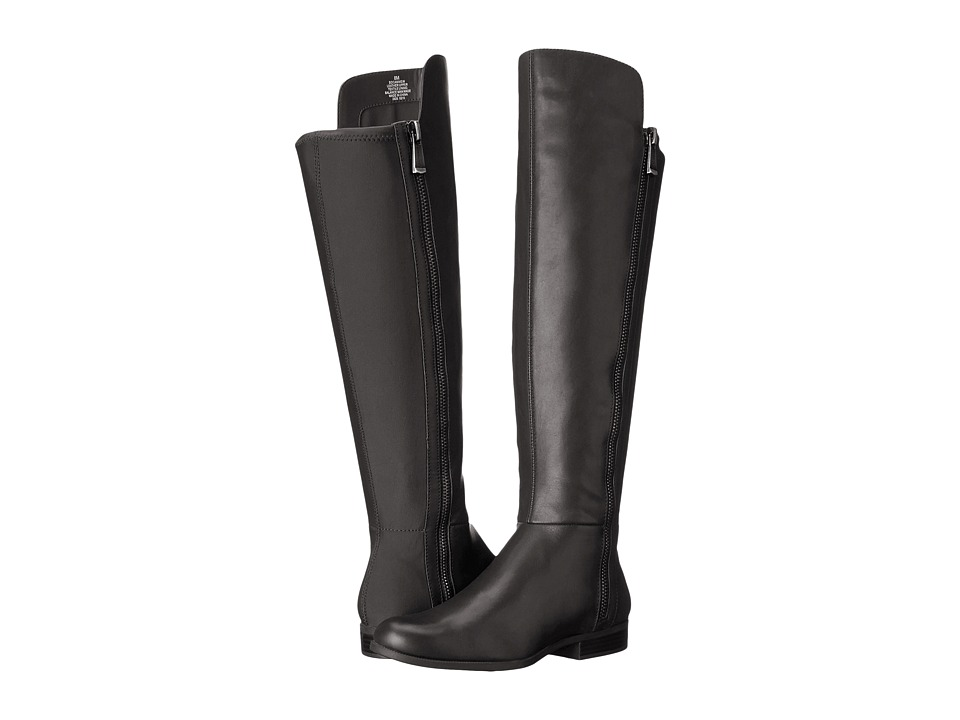 Bandolino - Camme Wide Shaft (Black Leather) Women