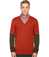Vivienne Westwood - Block Classic V-Neck Sweater