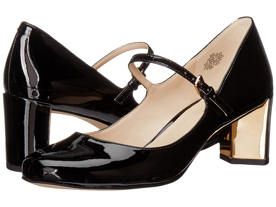 1920s Style Shoes Nine West - Fadilla Black Synthetic Womens Shoes $71.95 AT vintagedancer.com