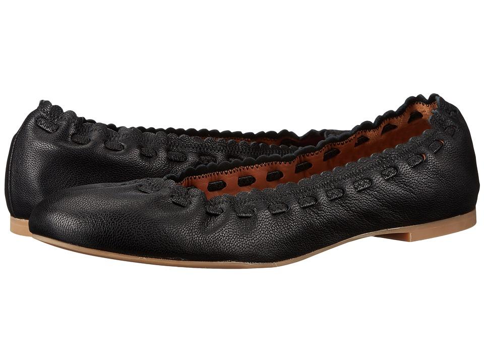 See by Chloe - SB27200 (Black Rex Goat) Womens Flat Shoes