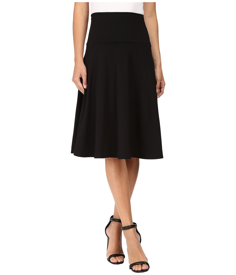 Susana Monaco - High Waist Flare Skirt (Black) Womens Skirt