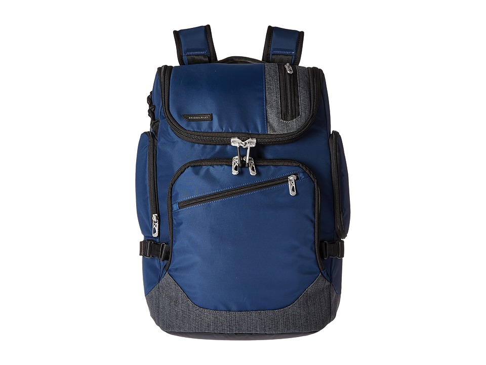 Briggs & Riley - BRX - Excursion Backpack (Blue) Backpack Bags