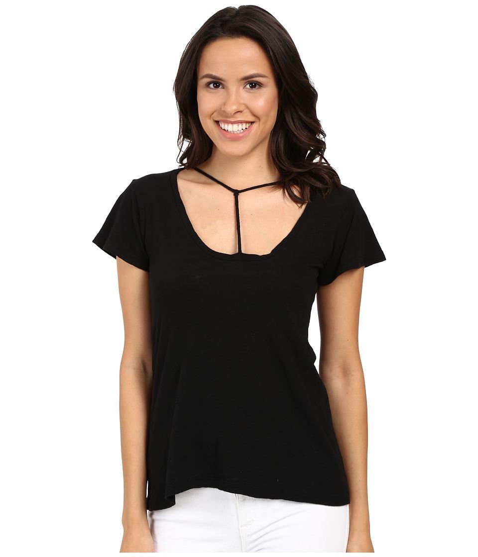 LNA Bondage Strap Tee Black Womens T Shirt