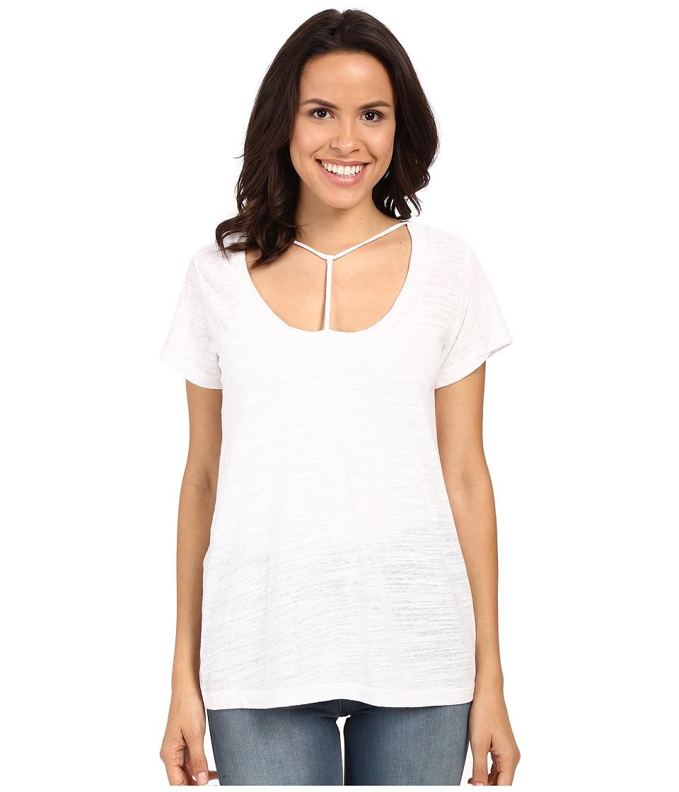LNA Bondage Strap Tee White Womens T Shirt