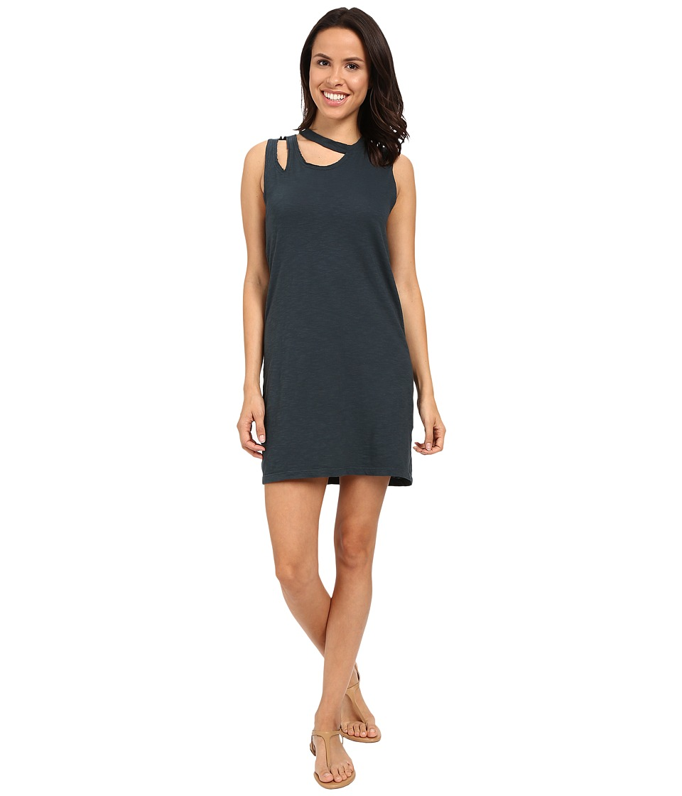 LNA Double Cut Tank Dress Washed Black Womens Dress