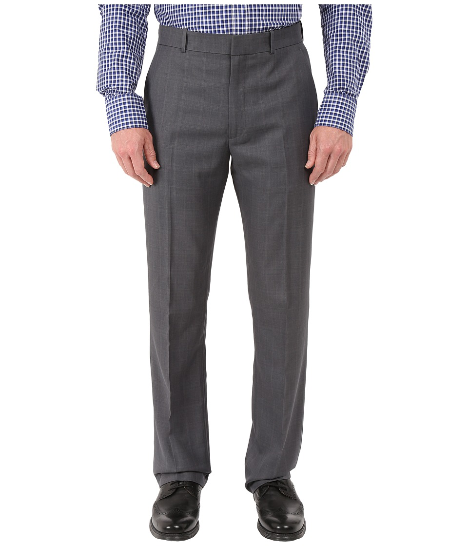 Perry Ellis Portfolio - Windowpane Performance Portfolio Pant (Charcoal) Mens Dress Pants